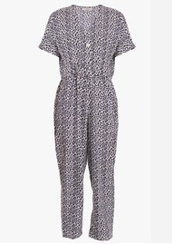 EITHER OR Ashley Printed Jumpsuit - Leopard