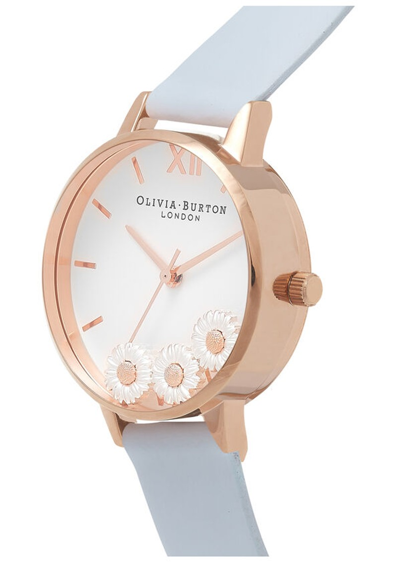 Olivia Burton Dancing Daisy Watch - Chalk Blue & Rose Gold main image