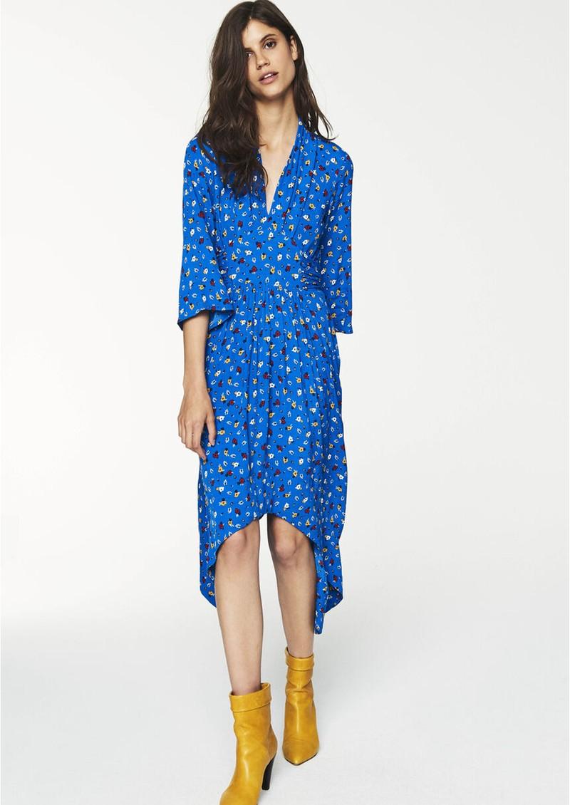 Ba&sh Lilia Midi Floral Dress - Azure main image