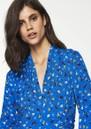 Ba&sh Lilia Midi Floral Dress - Azure
