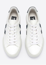 VEJA Campo Leather Trainers - White & Black
