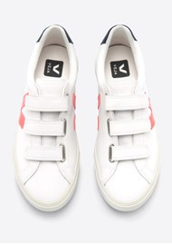 VEJA Esplar 3 Lock Trainers - Extra White, Orange & Nautico
