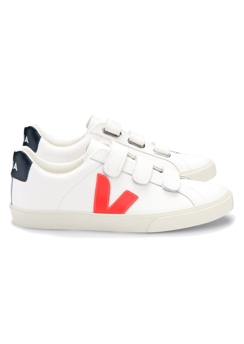 VEJA Esplar 3 Lock Trainers - Extra White, Orange & Nautico main image