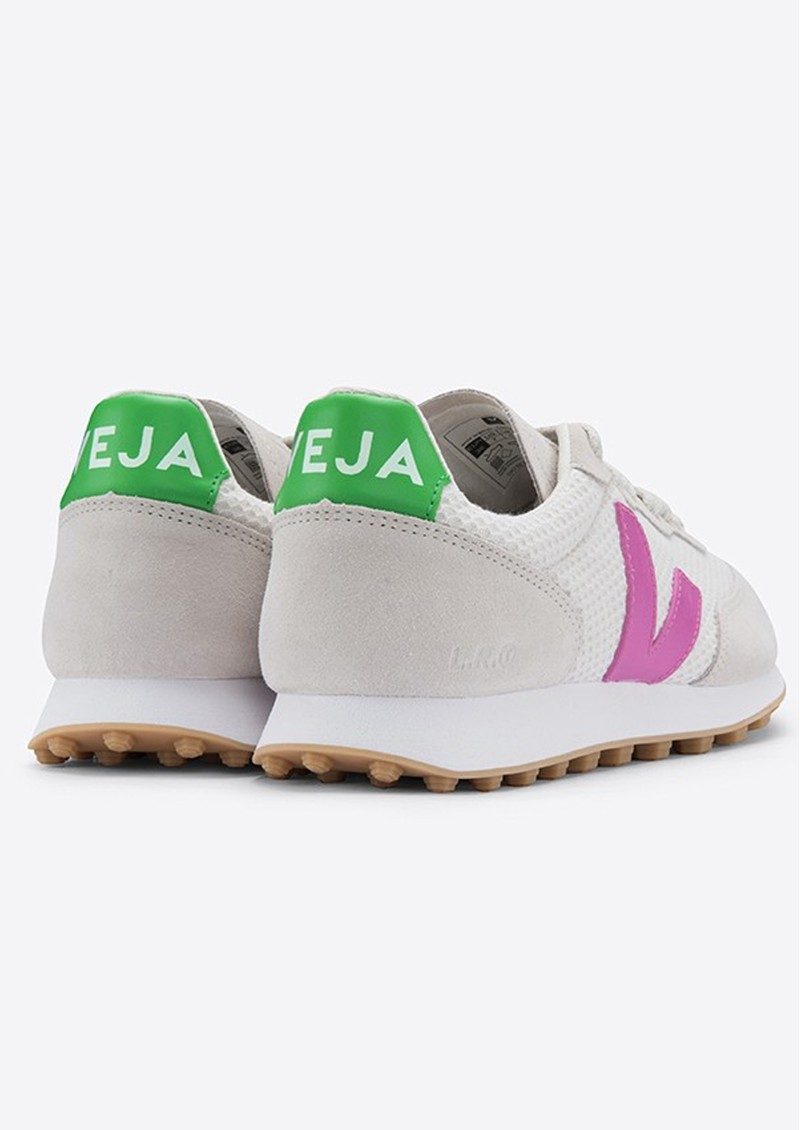 VEJA Riobranco Hexamesh Trainers - Grey, Green & Pink main image