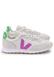 VEJA Riobranco Hexamesh Trainers - Grey, Green & Pink