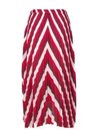 SAMSOE & SAMSOE Cocos Pleated Midi AOP Skirt - Berry Mix