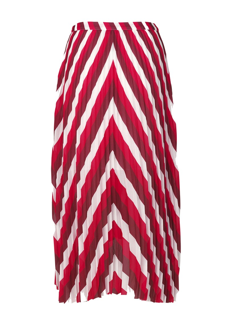 Cocos Pleated Midi AOP Skirt - Berry Mix main image