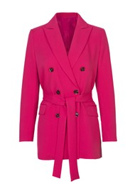 SAMSOE & SAMSOE Najas Double Breasted Blazer - Raspberry
