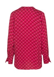SAMSOE & SAMSOE Hamill Check AOP Blouse - Berry Check