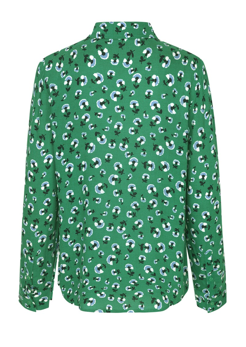 SAMSOE & SAMSOE Milly AOP Floral Shirt - Green Carnation main image