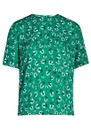 Amabel Printed Short Sleeve Top - Green Carnation additional image