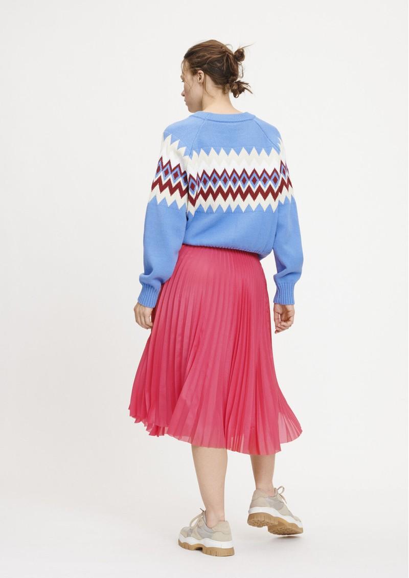 SAMSOE & SAMSOE Juliette Pleated Midi Skirt - Raspberry main image