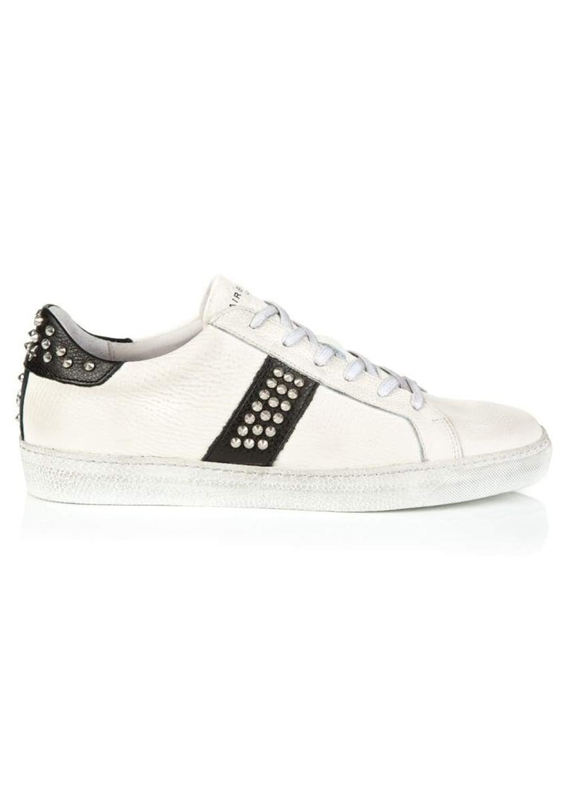 Cru Studded Trainer - White & Black main image
