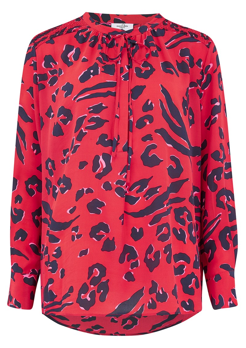 Mercy Delta Stowe Silk Blouse - Leopard Fiesta main image