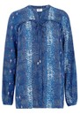 Avebury Silk Blouse - Python Ocean additional image