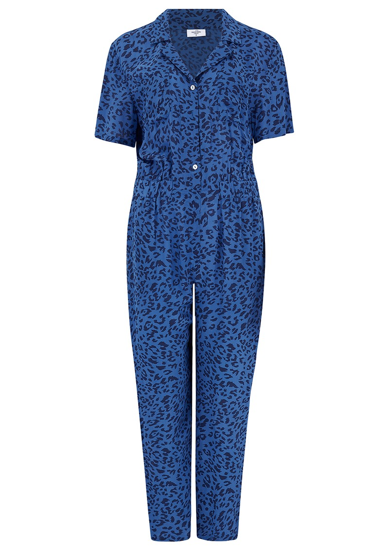 Mercy Delta Lawrence Jumpsuit - Cheetah Ocean main image