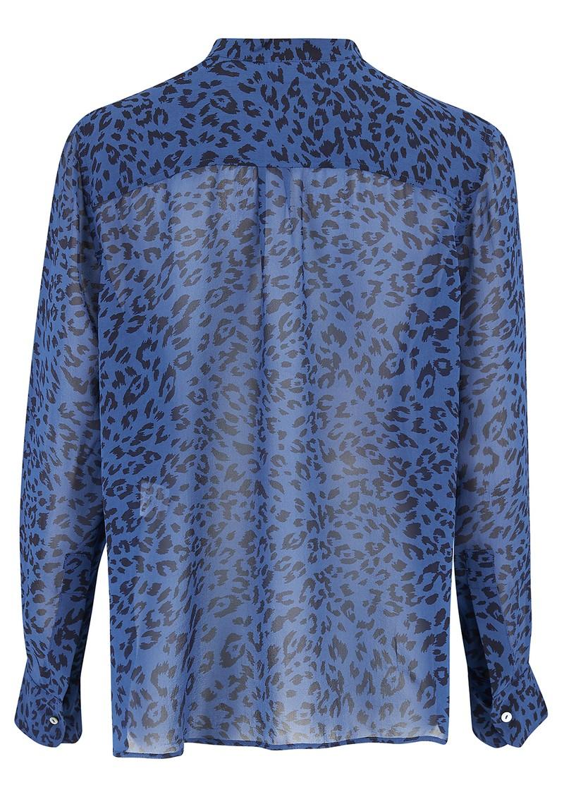 Mercy Delta Rufford Silk Blouse - Cheetah Ocean main image