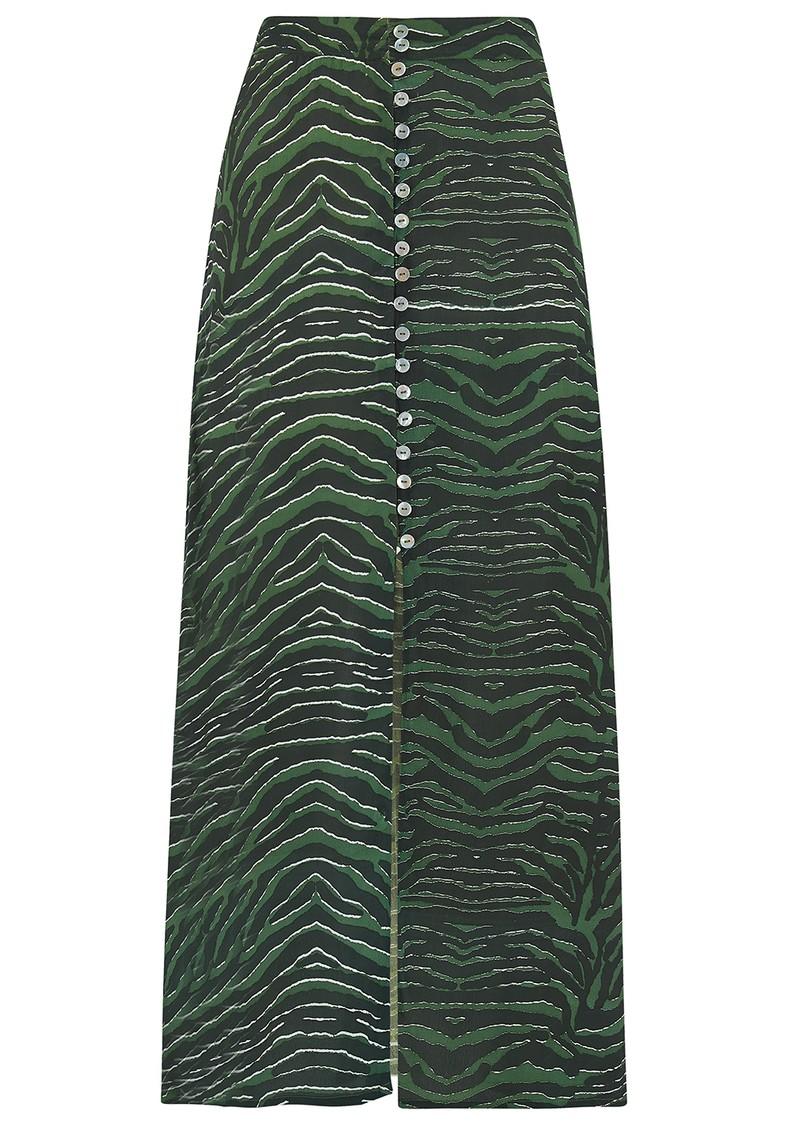 Mercy Delta Moulton Midi Skirt -  Zebra Ash  main image