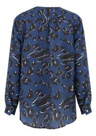 Mercy Delta Fenton Silk Blouse - Leopard Ocean