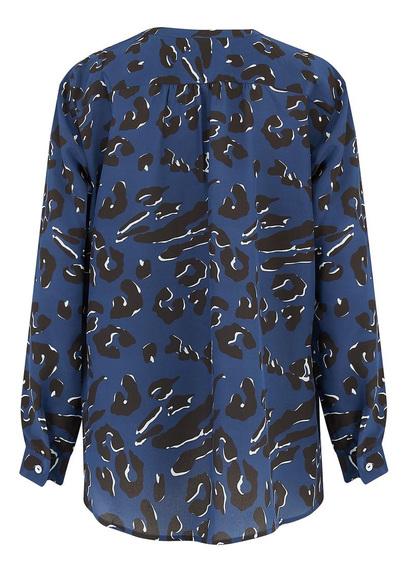 Mercy Delta Fenton Silk Blouse - Leopard Ocean main image