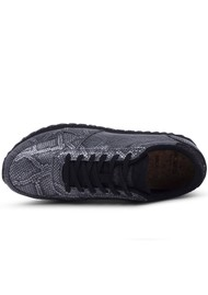 WODEN Ydun Snake Trainer - Black metallic