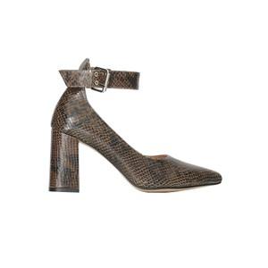 Jane Ankle Snake Pump - Green