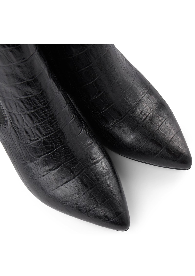 SHOE THE BEAR Agnete Croco Leather Chelsea Boot - Black main image
