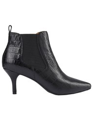 SHOE THE BEAR Agnete Croco Leather Chelsea Boot - Black