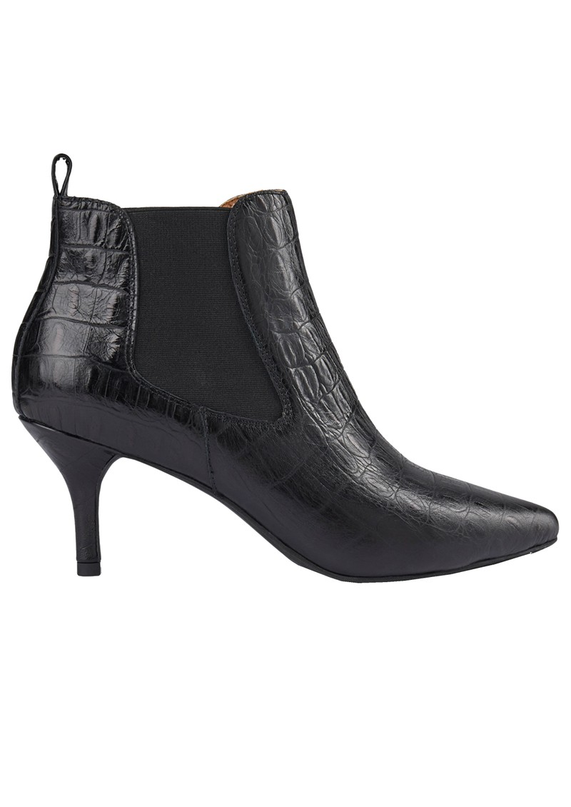 SHOE THE BEAR Agnete Croco Leather Chelsea Boot - Black main image