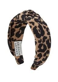 HAYLEY MENZIES Sahara Silk Alice Band - Leopard