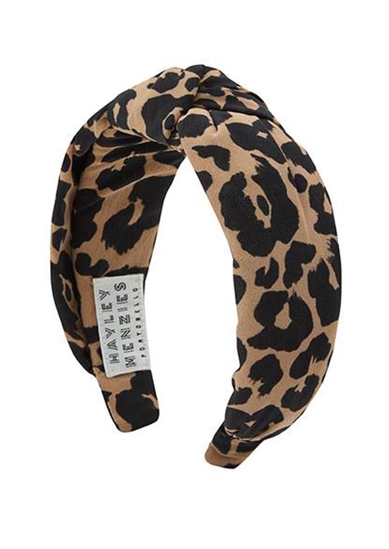 HAYLEY MENZIES Sahara Silk Alice Band - Leopard main image
