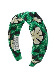 HAYLEY MENZIES Soraya Silk Alice Band - Green