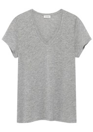 American Vintage Kobibay Short Sleeve Tee - Heather Grey