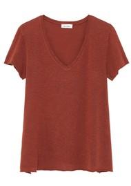 American Vintage Kobibay Short Sleeve Tee - Vintage Dark Red