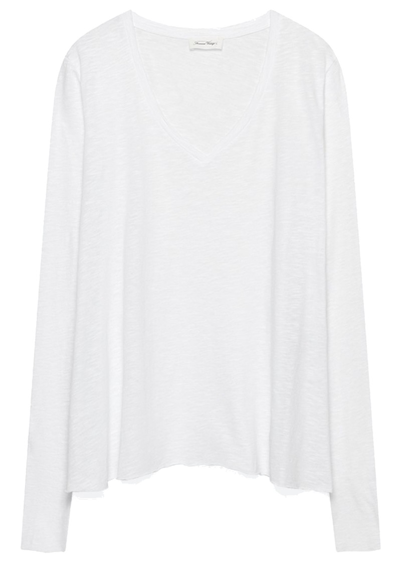 American Vintage Kobibay Long Sleeve Tee - White main image