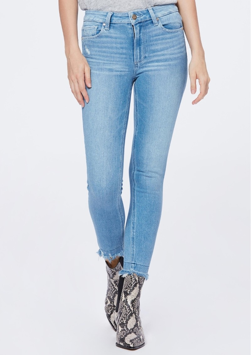 Paige Denim Hoxton Crop Ultra Skinny Fray Hem Jeans - Baybreak main image