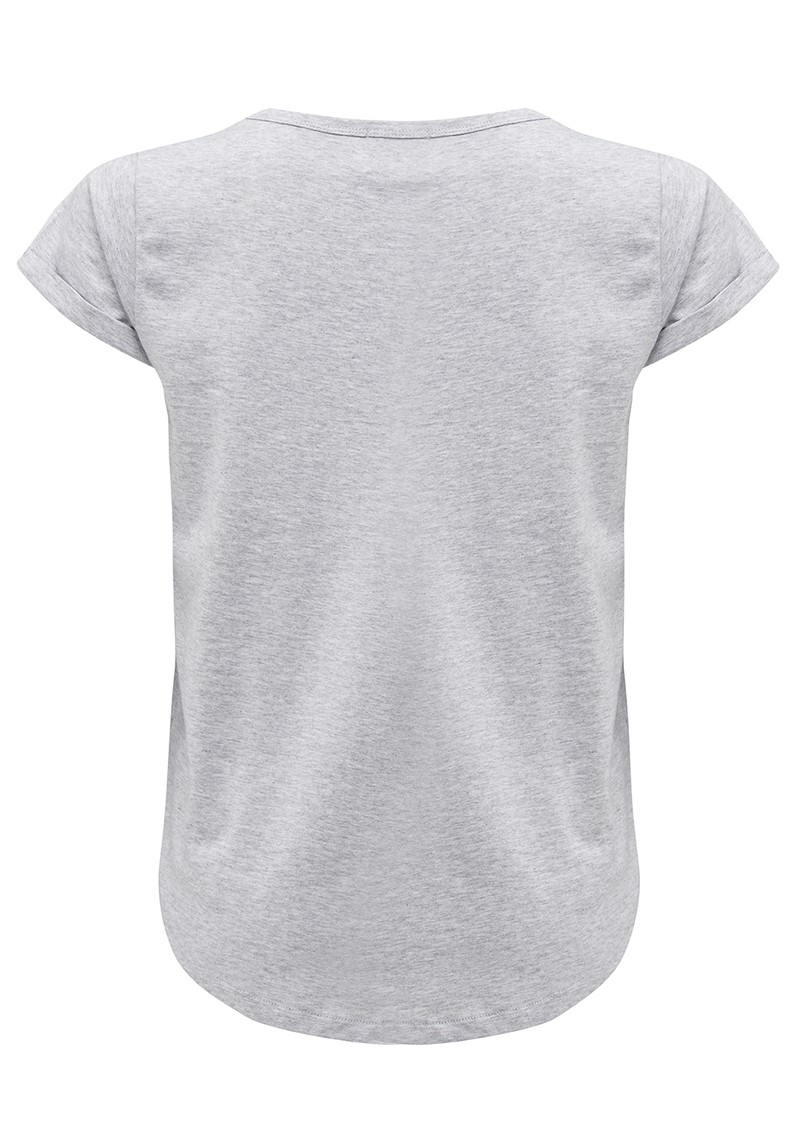 MAISON LABICHE Blondie Tee - Heather Grey main image