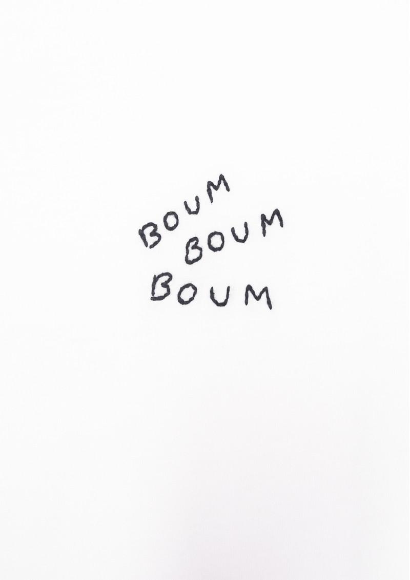 MAISON LABICHE Boyfriend Boum Cotton Tee - White main image