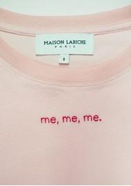MAISON LABICHE Boyfriend Me Me Me Cotton Tee - Soft Pink