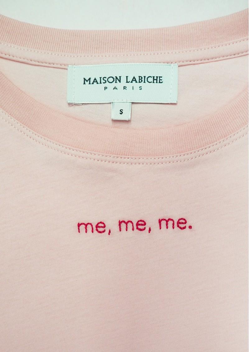 MAISON LABICHE Boyfriend Me Me Me Cotton Tee - Soft Pink main image