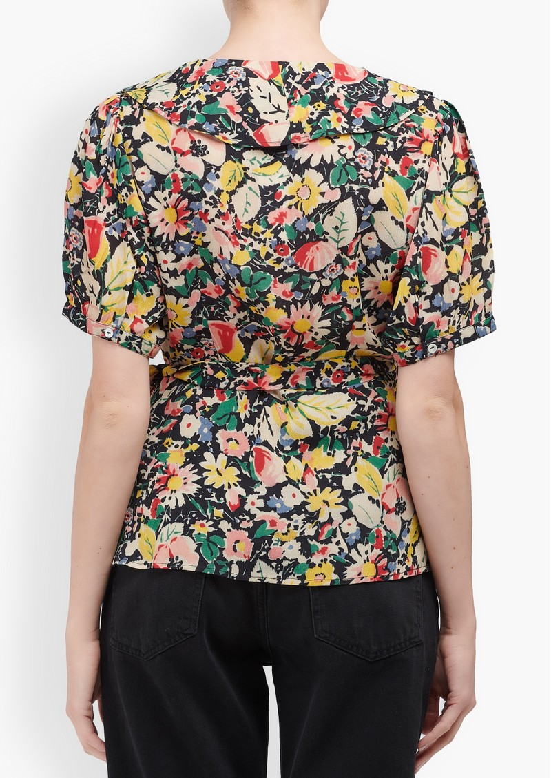 Trixie Wrap Top - Vintage Bloom main image