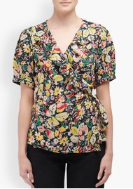 Lily and Lionel Trixie Wrap Top - Vintage Bloom