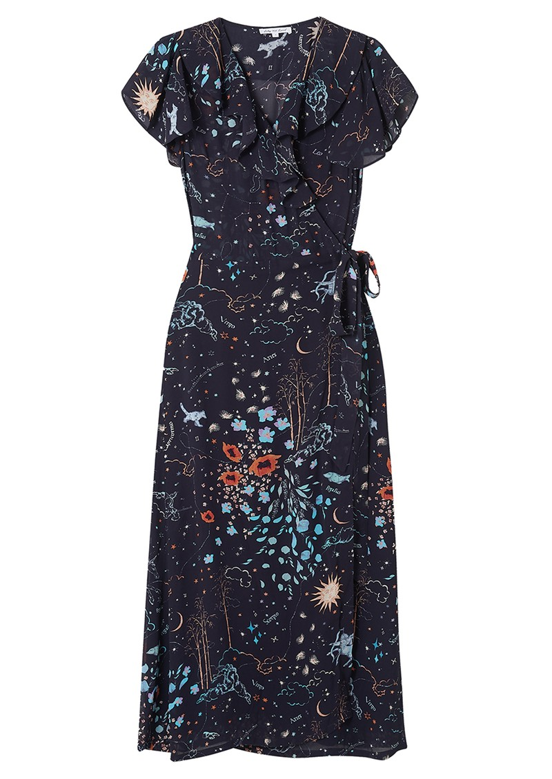 Trixie Wrap Dress - Zodiac Navy main image