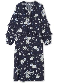 Lily and Lionel Rina Silk Dress - Heart Flower Navy