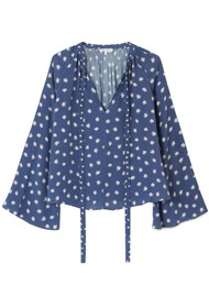 Lily and Lionel Etta Silk Top - Cosmos Denim