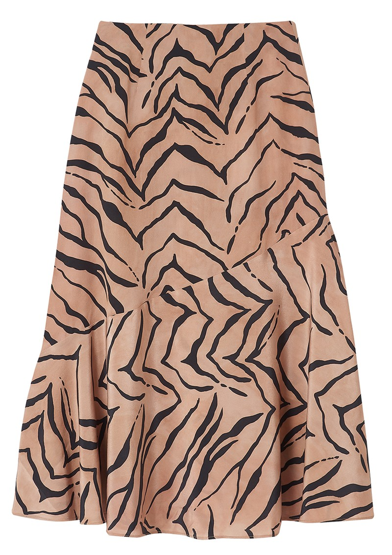 Lily and Lionel Lottie Silk Skirt - Tiger Natural main image