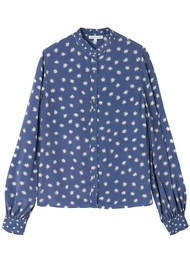 Lily and Lionel Maddox Silk Shirt - Cosmos Denim