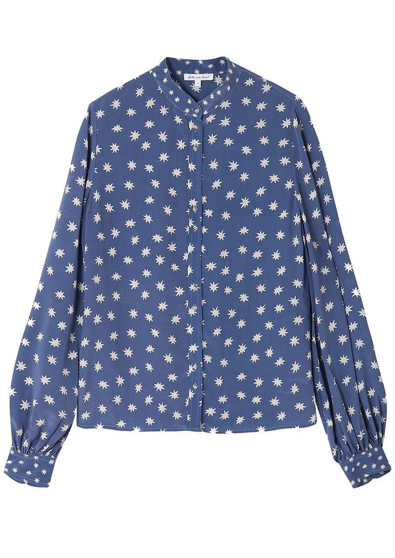 Lily and Lionel Maddox Silk Shirt - Cosmos Denim main image