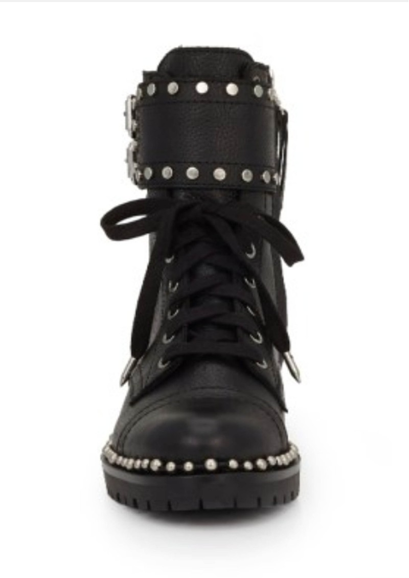 Sam Edelman Jennifer Leather Biker Boots - Black main image