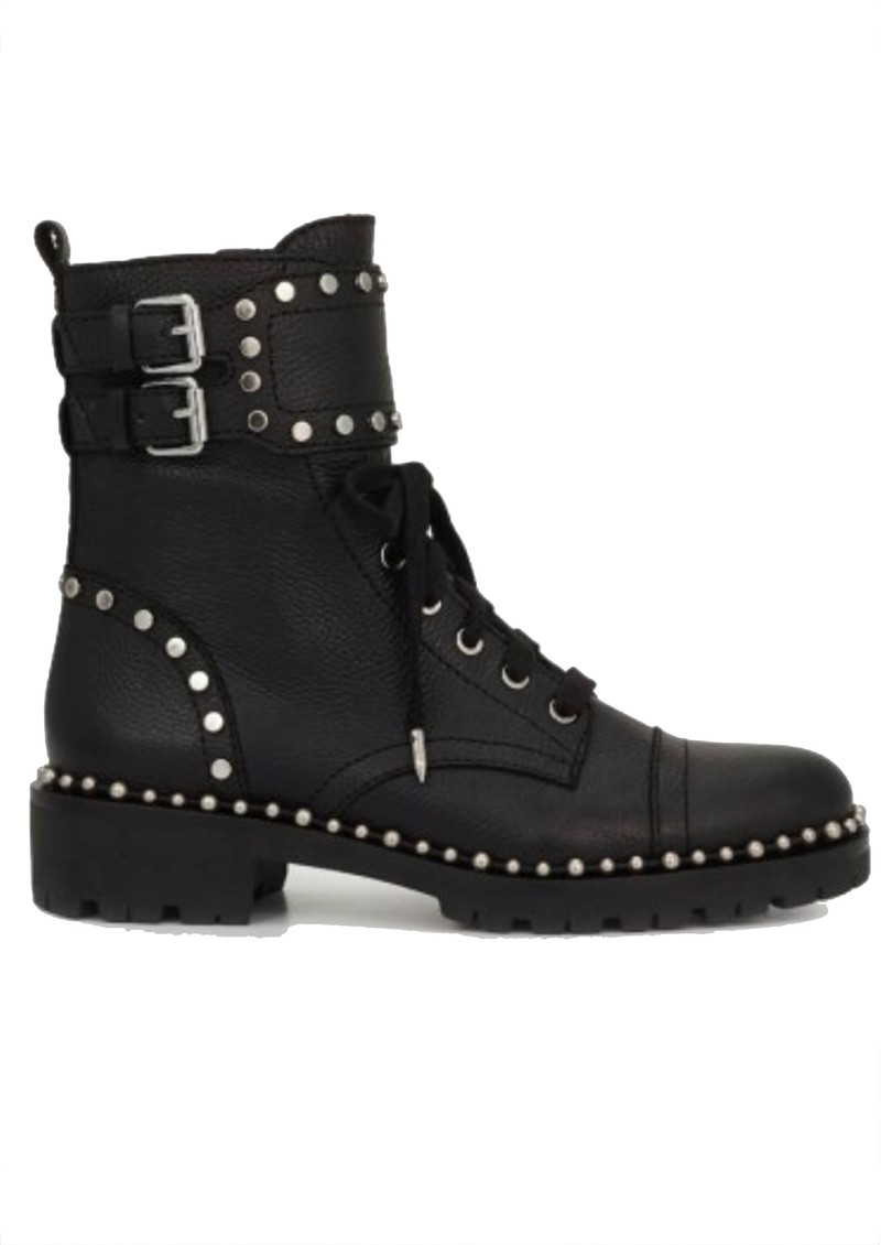 Jennifer Leather Biker Boots - Black main image